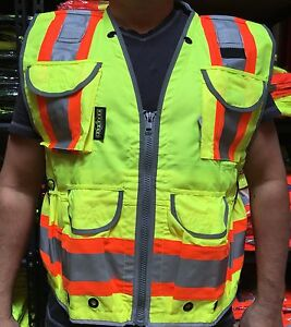 Sv55 Two Tone Engineer Vest Class 2 Ansi isea 107 2015