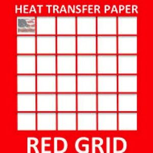 Heat Transfer Inkjet Paper Red Grid Iron On Light T Shirt 1000 Pk 8 5 x11 1
