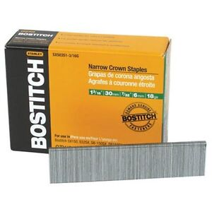 Bostitch Sx50351 1 4g 1 1 4 in Leg 18 gauge 7 32 in Narrow Crown Finish Staples