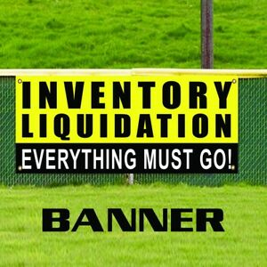 Inventory Liquidation Promotion Banner Sign Everything Must Go Closeout Sale