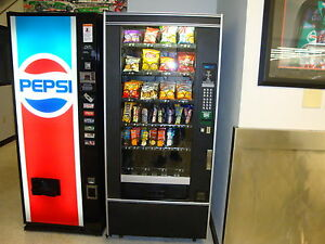 Glass Front Snack Vending Machine Refurb Crane National 148 Accept Coins bills