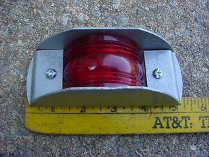60s 70s Maybe Red Clearance Marker Signal Marker Light Yankee 74