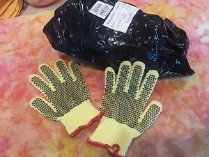 Lot Small Kevlar Pvc dot Cut Resistant Work Gloves Honeywell Safety Kvd18ay 100