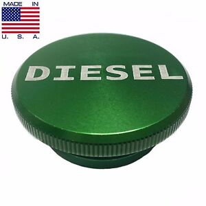 2013 2017 Dodge Ram Aluminum Green Diesel Fuel Cap Lid Magnetic Made In Usa