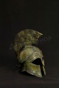 Ancient Bronze Helmet With Soldier