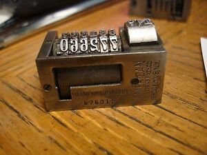 American Letterpress Numbering Machine 6 Digit Skip 3 Forward