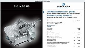 Automatic Commercial Meat Slicer Manconi Kolossal 330 Made In Europe