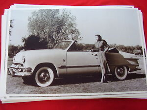 1951 Ford Convertible 11 X 17 Photo Picture