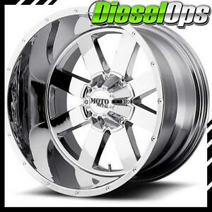 Moto Metal Mo962 Chrome Wheels 20x12 With 8x165 10 Bolt Pattern