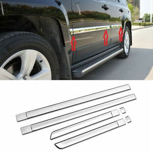 Chrome Body Door Side Molding Line Cover Trim Garnish Fit 2011 2016 Jeep Patriot