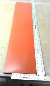Silicone Rubber Sheet 1 4 thk X 8 W X 38 L Strip Us Mil spec 70a Duro Red
