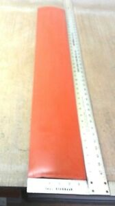 Silicone Rubber Sheet 1 4 thk X 6 w X 38 L Strip Us Mil spec 70a Duro Red