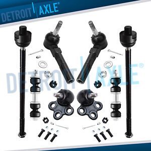 Inner Outer Tie Rods Ball Joints Sway Bars Kit For Buick Chevy Pontiac Saturn