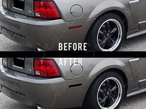 1999 2004 Ford Mustang Gt Smoked Side Markers Tint Overlay Kit Rear