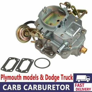 Carburetor Replacement Engine Fit Dodge Plymouth 318 Engine Carter C2 Bbd Barrel