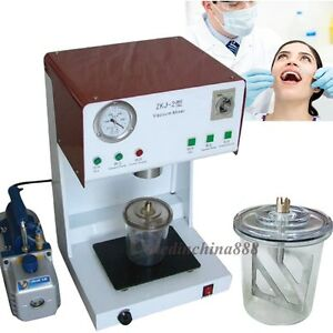 150w Dental Lab Vacuum Mixer Mixing Machine With Mixing Beaker Outer Pump 500ml