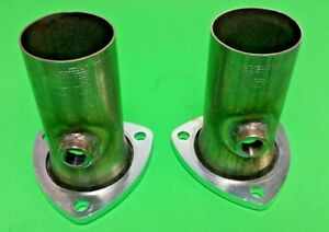 3 00 To 2 50 409 Stainless 3 Bolt Flange Header Collector Reducers W 02 Bungs