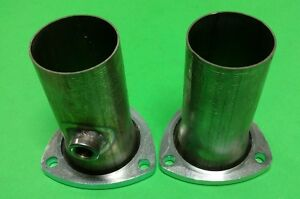 3 To 2 50 409 Stainless 3 Bolt Flange Header Reducers W 02 Bung Made In Usa