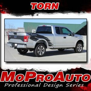 Torn 2015 2020 Ford Truck F 150 Stripes Decals Bed Side Graphics 3m Pro Vinyl