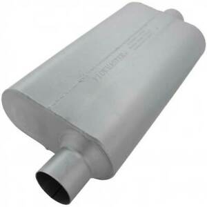 Flowmaster 942551 50 Series Delta Flow Muffler 2 5 In 2 5 Out 23 Long