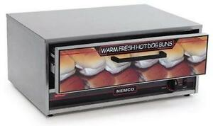 Nemco 8055 bw Hot Dog Bun Warmer Fit Under 8055 Roller Grill