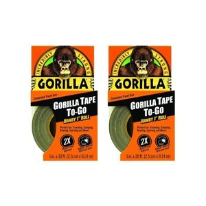 Gorilla 6100101 9 Duct Tape To go 9 Pack 1 X 10 Yd Black