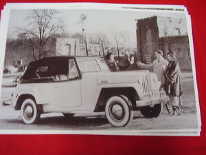 1948 Willys Jeepster 11 X 17 Photo Picture