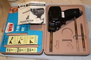 Wen 450 Single post Heavy duty Soldering Gun 3 Tips Case Quality Vintage Usa