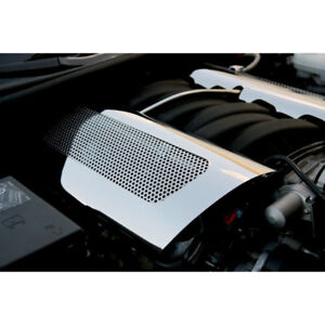 Replacement Fuel Rail Covers For 2006 13 Corvette Z06 Ls7 stainless perforated