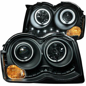 Anzo Usa Projector Headlights Black With Halo Ccfl For Jeep Grand Cherokee 08 10