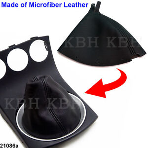 Leather Shift Shifter Boot For Nissan 350z 2003 2008 Manual Transmission Black