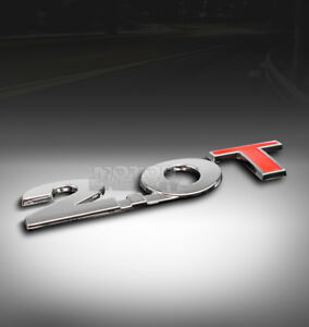 Audi Volkswagen 2 0 2 0t Turbo Trunk Emblem Badge Sticker 3d Logo Abs Chrome Red