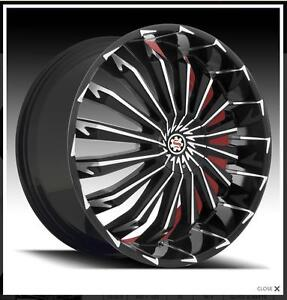 Scarlet Sw5 26 Inch Wheels Rims Tires Fit Charger Chrysler 300 Old School Cars