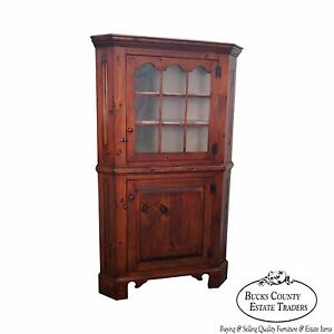 Stephen Von Hohen Bucks County Solid Pine Hand Crafted Corner Cabinet