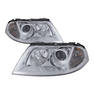 Headlights Right Left Pair Set Fits 2001 2005 Volkswagen Passat