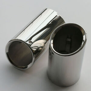2x Stainless Steel Exhaust Muffler Tip Tail Pipe Fit Bmw X1 Xdrive 25 E84