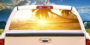 Tropical Sunset Wrap Rear Window Graphics Decal Sticker 66 X 22