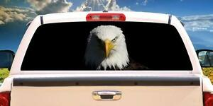American Bald Eagle Wrap Rear Window Graphics Decal Sticker 66 X 22