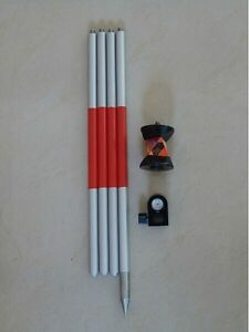 360 Mini Prism With 4 Poles For Total Station Brand New