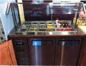 Refrigerated Topping Bar With Sneeze Guard Turboair Model Jbt 48
