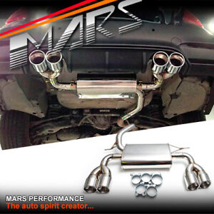 M Sports Look Dual Outlet Muffler Exhaust For Bmw F30 F31 F32 F33 F36 Series 3 4