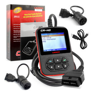 Launch X431 Cr hd 24v Heavy Truck Diesel Duty Obd Code Reader Diagnostic Scanner