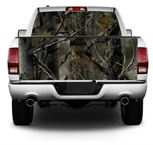 Real Tree Camo Flag Wrap Rear Window Tailgate Graphics Decal Kit