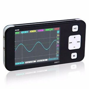 Oscilloscope Nano Digital Arm Handheld Pocket Ds211 Mini Portable Storage Sized