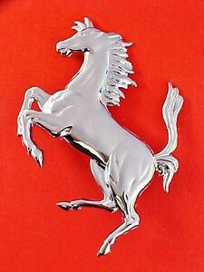 Ferrari Prancing Horse Emblem Badge New Old Stock 4 5 Oem
