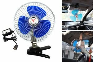 12v Dc 8 Oscillating Cooling Fan 60 Metal Spokes Cage Good For Car Truck Boat