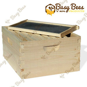 Langstroth Bee Hive 10 Frame Deep Box W Frames And Foundations