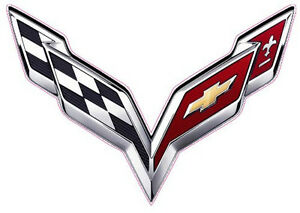 Corvette Flag 2014 Small Decal 3 X 2