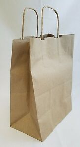 124 Pcs Brown Kraft Paper Bag With Handle Shopping Wedding Gift Bags Party