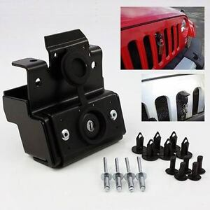 Metal Anti Theft Engine Hood Lock Latch Kit For 2011 18 Jeep Wrangler Jk Rubicon